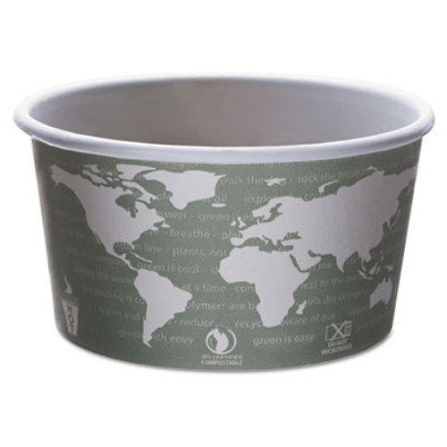 Eco-Products World Art Renewable and Compostable Food Container  12 oz  Green  25 Pack  20 Packs Carton (ECP EP-BSC12-WA)