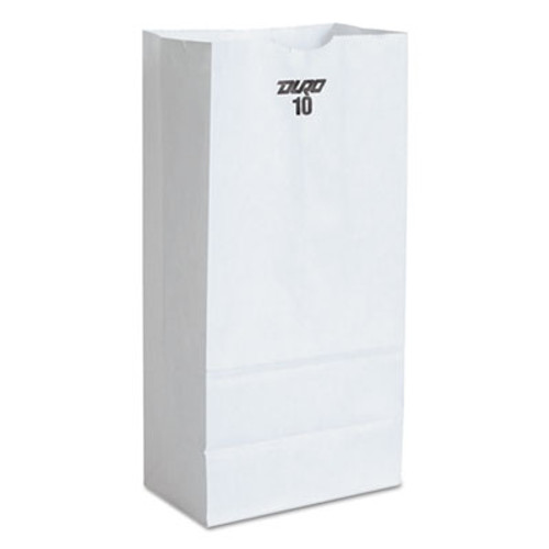 General Grocery Paper Bags  35 lbs Capacity   10  6 31 w x 4 19 d x 13 38 h  White  500 Bags (BAG GW10-500)