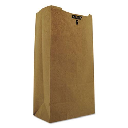 General Grocery Paper Bags  35 lbs Capacity   6  6 w x 3 63 d x 11 06 h  Kraft  2 000 Bags (BAG GK6)