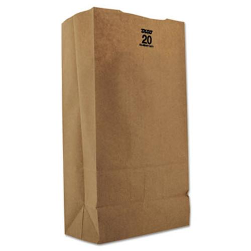 General Grocery Paper Bags  57 lbs Capacity   20  8 25 w x 5 94 d x 16 13 h  Kraft  500 Bags (BAG GX2060)