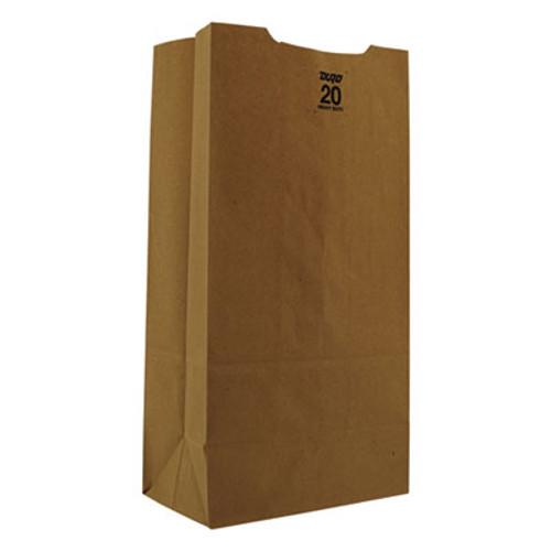 General Grocery Paper Bags  50 lbs Capacity   20  8 25 w x 5 94 d x 16 13 h  Kraft  500 Bags (BAG GH20)
