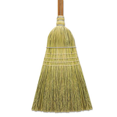 "Boardwalk Corn/Fiber Warehouse Brooms, 60"", Gray/Natural, 6/Carton (BWK BR10002)"