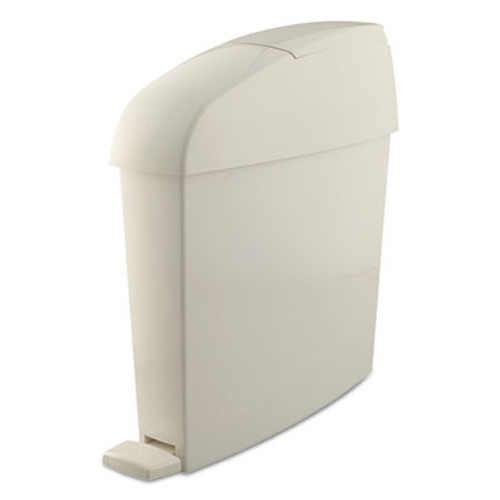 Rubbermaid Commercial Sanitary Bin, Rectangular, Plastic, 3 gal, White (RCP 750243)