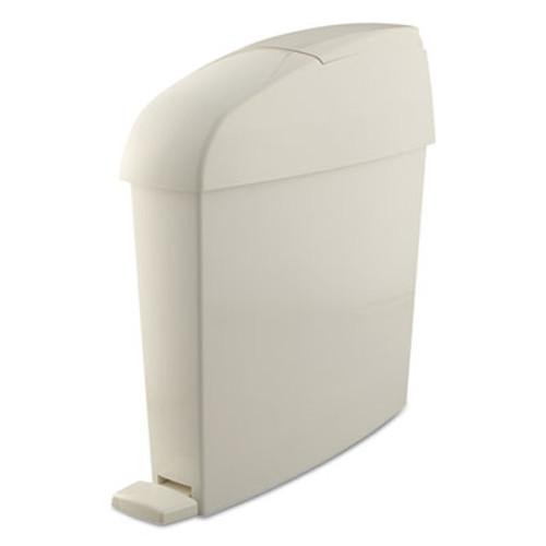 Rubbermaid Commercial Sanitary Bin  Rectangular  Plastic  3 gal  White (RCP 750243)
