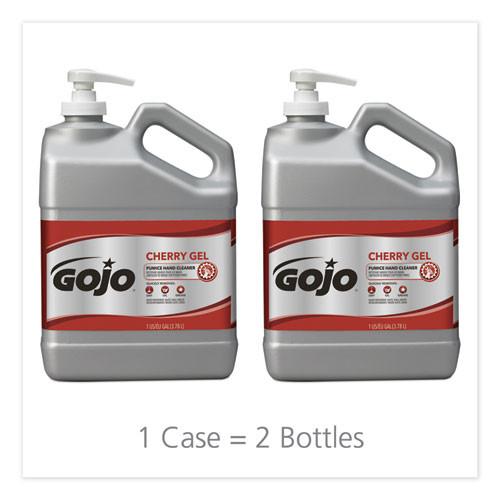 GOJO Cherry Gel Pumice Hand Cleaner  1gal Bottle  2 Carton (GOJ 2358-02)