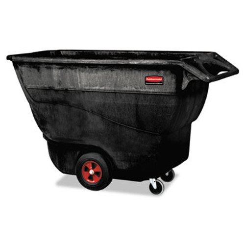 Rubbermaid Commercial Structural Foam Tilt Truck, Rectangular, 1250 lb. Cap., Black (RCP 9T15 BLA)