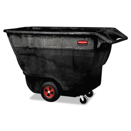Rubbermaid Commercial Structural Foam Tilt Truck  Rectangular  1 250 lb Capacity  Black (RCP 9T15 BLA)