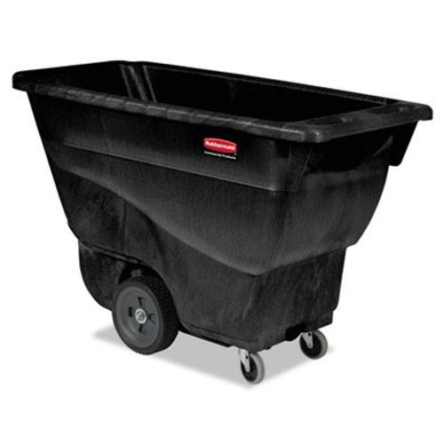 Rubbermaid Commercial Structural Foam Tilt Truck, Rectangular, 450 lb. Cap., Black (RCP 9T13 BLA)