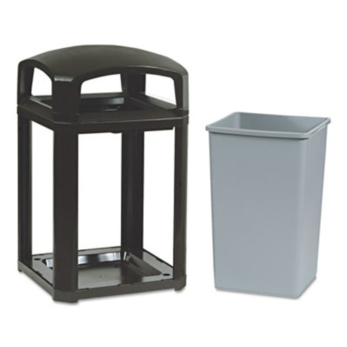 Rubbermaid Commercial Landmark Series Classic Dome Top Container  Plastic  35 gal  Sable (RCP 3970 SAB)
