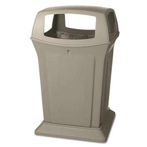 Rubbermaid Commercial Ranger Fire-Safe Container, Square, Structural Foam, 45 gal, Beige (RCP 9173-88 BEI)