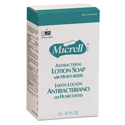 GOJO Antibacterial Lotion Soap, Amber, NXT 2000 ml Refill, 4/Carton (GOJ 2257-04)