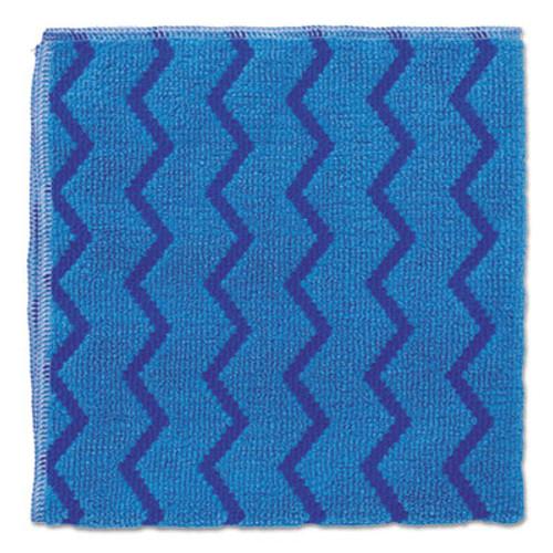 Rubbermaid Commercial HYGEN Microfiber Cleaning Cloths  16 x 16  Blue  12 Carton (RCP Q620 BLU)