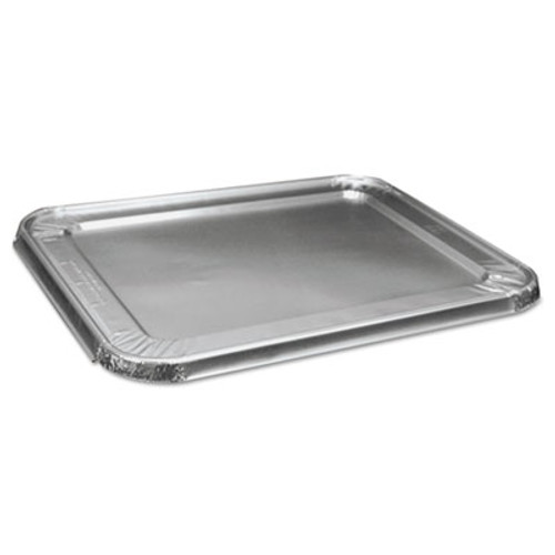 Boardwalk Half Size Aluminum Steam Table Pan Lid  Deep  100 Carton (BWK LIDSTEAMHF)