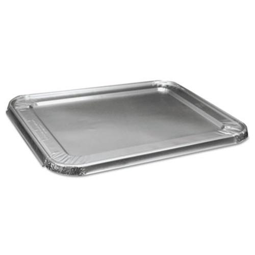 Boardwalk Half Size Aluminum Steam Table Pan Lid  Deep  100 Carton (BWK LIDSTEAMHF)
