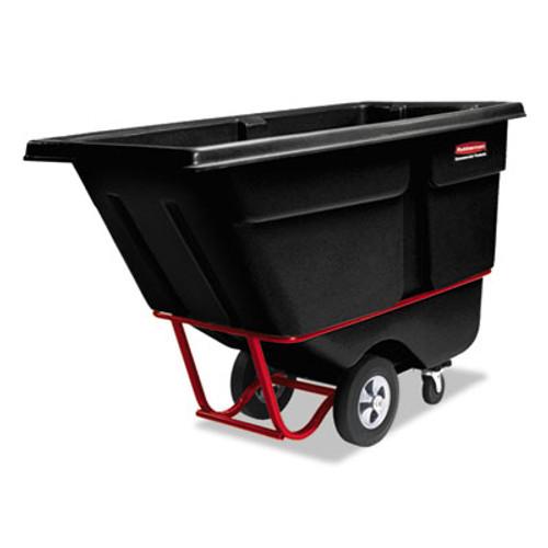 Rubbermaid Commercial Rotomolded Tilt Truck  Rectangular  Plastic  0 5 cu yd  850 lb Capacity  Black (RCP 1305 BLA)
