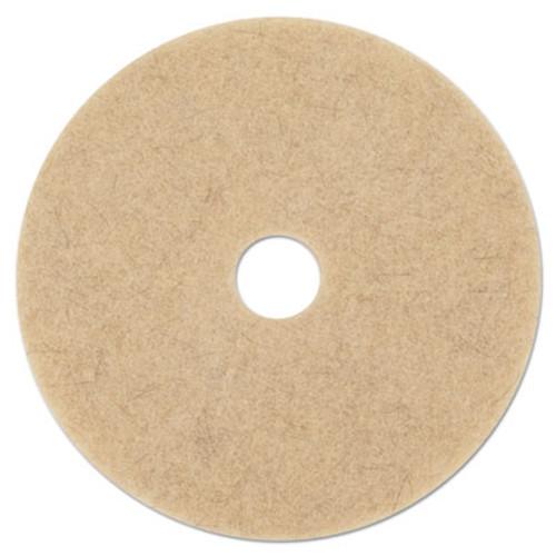 Boardwalk Tan Burnishing Floor Pads  17  Diameter  5 Carton (PAD 4017 ULT)