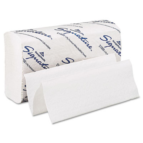 Georgia Pacific Professional Blue Select Multi-Fold 2 Ply Paper Towel  9 1 5 x 9 2 5  White 125 PK  16 PK CT (GPC 210)