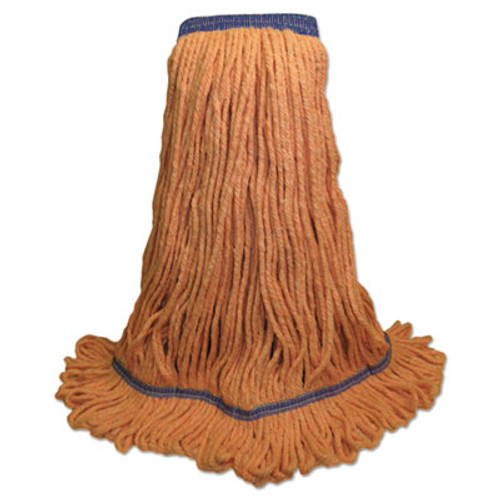 Boardwalk Super Loop Wet Mop Head  Cotton Synthetic Fiber  5  Headband  X-Large Size  Orange  12 Carton (UNS 504OR)