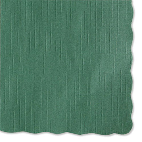 Hoffmaster Solid Color Scalloped Edge Placemats  9 5 x 13 5  Hunter Green  1 000 Carton (HFM 310528)