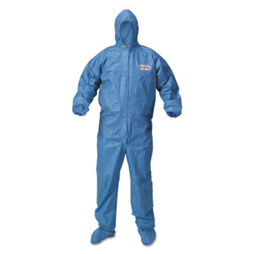 KleenGuard* A60 Blood and Chemical Splash Protection Coveralls, 3X-Large, Blue, 20/Carton (KCC 45096)