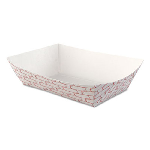 Boardwalk Paper Food Baskets  2 5lb Capacity  Red White  500 Carton (BWK 30LAG250)