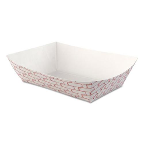 Boardwalk Paper Food Baskets  2 5lb Capacity  Red White  500 Carton (BWK 30LAG250)