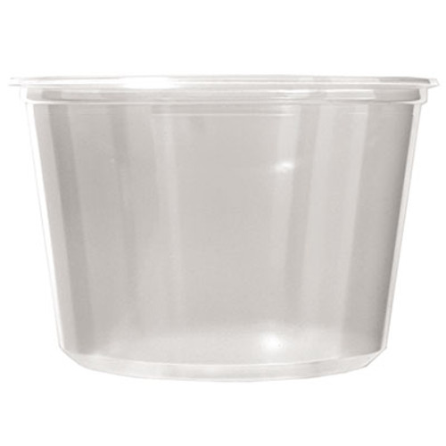 Fabri-Kal Microwavable Deli Containers  16 oz  Clear  500 Carton (FAB PK16S-C)