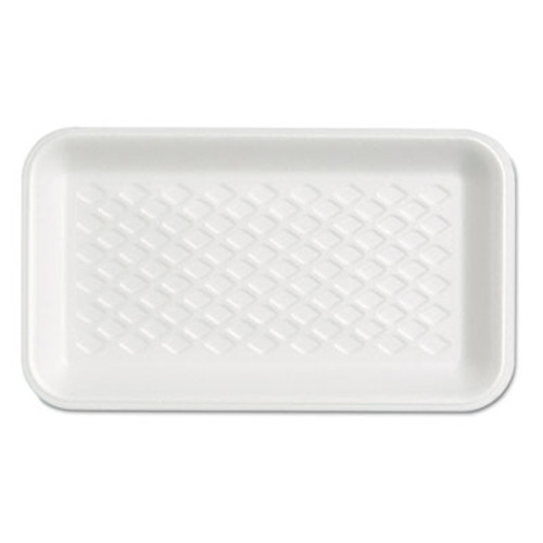 Genpak Supermarket Tray, Foam, White, 8-1/4x4-3/4x5/8, 125/Bag (GNP W1017S)