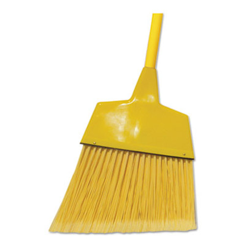 Boardwalk Poly Fiber Angled-Head Lobby Brooms  55   Yellow Lacquered Wood Handle  12 Carton (BWK BRMAXIL)