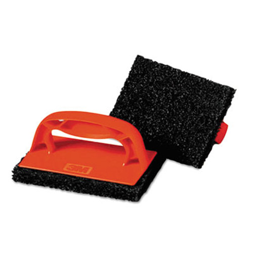 Scotch-Brite PROFESSIONAL Scotchbrick Griddle Scrubber  4 x 6 x 3  Red Brown  4 per Pack (MCO 59203)