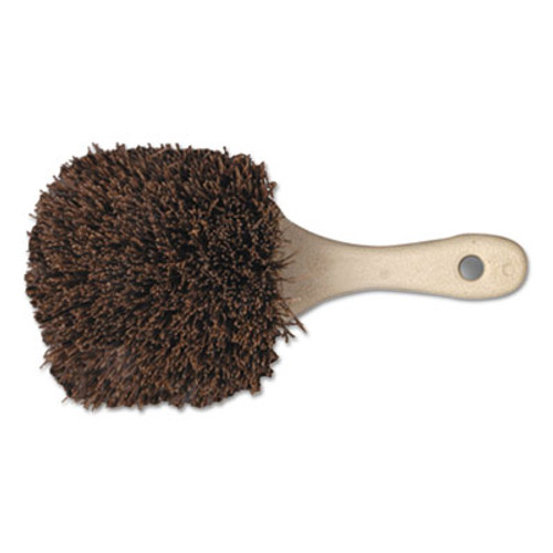 Boardwalk Utility Brush  Palmyra Bristle  Plastic  8 1 2   Tan Handle (BWK 4108)