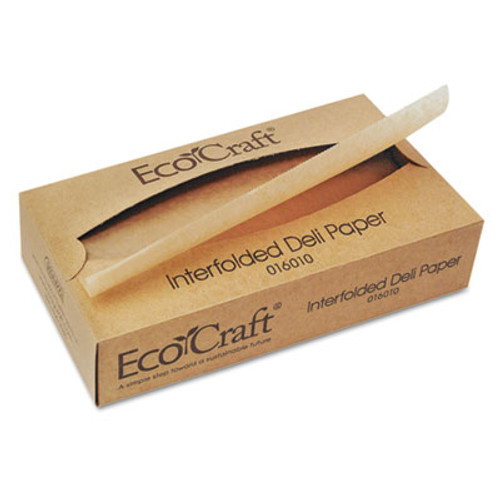 Bagcraft EcoCraft Interfolded Soy Wax Deli Sheets  10 x 10 3 4  500 Box  12 Boxes Carton (BGC 016010)