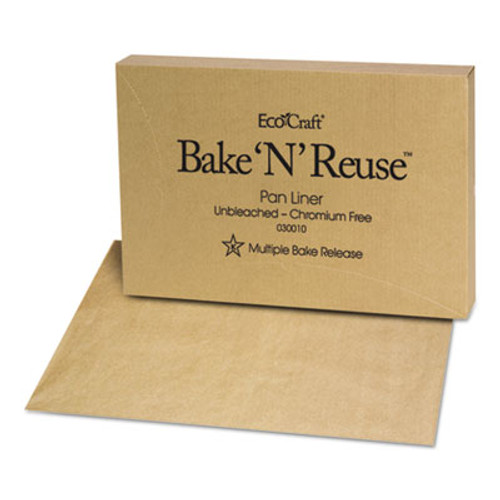 Bagcraft EcoCraft Bake 'N' Reuse Pan Liner  16 3 8 x 24 3 8  1000 Box (BGC 030010)