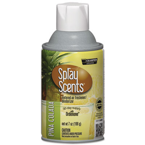 Chase Products SPRAYScents Metered Air Freshener Refill  Pina Colada  7 oz Aerosol  12 Carton (CHA 5180)