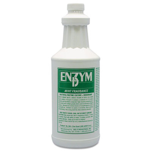Big D Industries Enzym D Digester Deodorant  Mint  1qt  Bottle  12 Carton (BGD 504)