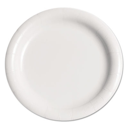 Dart Bare Eco-Forward Clay-Coated Paper Plate  9   WH  Rnd  Mdmwgt  125 Pk  4 PK CT (SCC MWP9B)