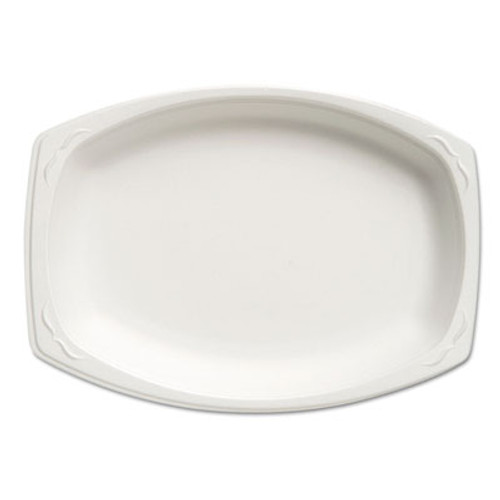 Genpak Celebrity Foam Platters, 7 x 9, White, 125/Pack, 4 Packs/Carton (GNP 87900)
