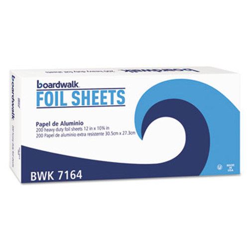 Boardwalk Heavy-Duty Aluminum Foil Pop-Up Sheets  12  x 10 3 4   200 Box  12 Boxes Carton (BWK 7164)
