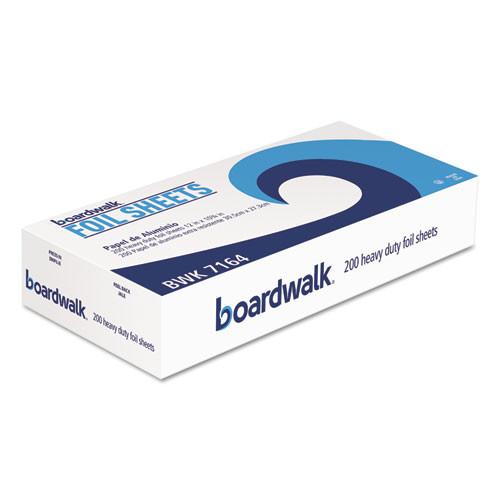 Boardwalk Heavy-Duty Aluminum Foil Pop-Up Sheets  12  x 10 3 4   200 Box  12 Boxes Carton (BWK 7164)