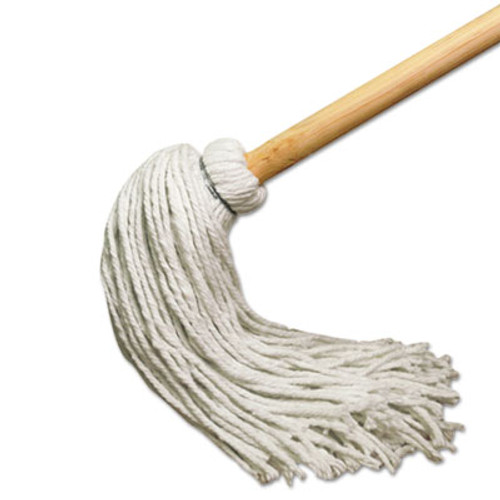 Boardwalk Deck Mop w 51 in  Wooden Handle  12 oz  Rayon Fiber Head  6 Pack (UNS 112R)