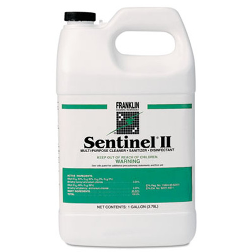 Franklin Cleaning Technology Sentinel II Disinfectant  Citrus Scent  Liquid  1 gal  Bottles  4 Carton (FRK F243022)
