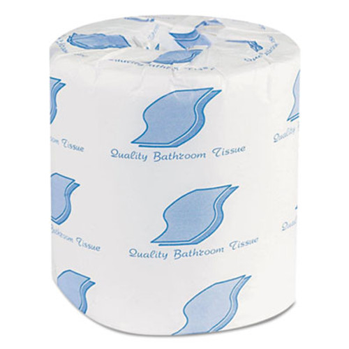 General Supply Bathroom Tissues, 2-Ply, White, 500 Sheets/Roll, 96 Rolls/Carton (GEN 201)