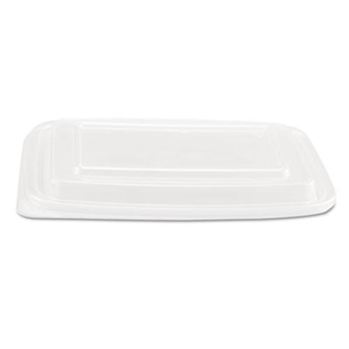 Genpak Microwave Safe Container Lid  Plastic  Fits 24-32 oz  Rectangular  Clear  75 Bag (GNP FPR932)
