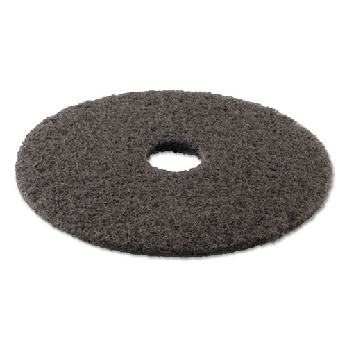 Boardwalk High Performance Stripping Floor Pads  19  Diameter  Grayish Black  5 Carton (PAD 4019 HIP)