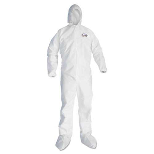 KleenGuard* GP A20 EBC-HB Coveralls, MICROFORCE SMS Fabric, White, X-Large, 24/Carton (KCC 49124)