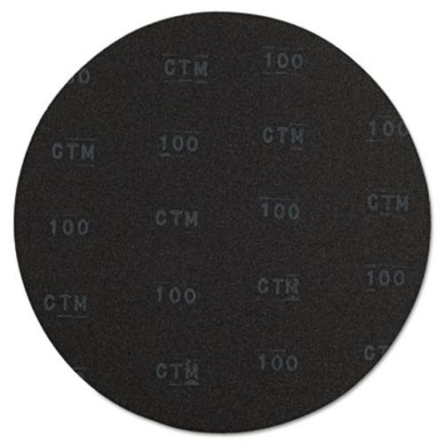 Boardwalk Sanding Screens  20  Diameter  100 Grit  Black  10 Carton (PAD 5020-100-10)