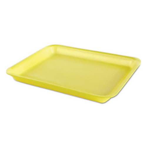 Genpak Processor Heavy Supermarket Tray  Yellow  10-1 2x8-1 4x1-1 8  100 Bag  4 CT (GNP TR08PYL)