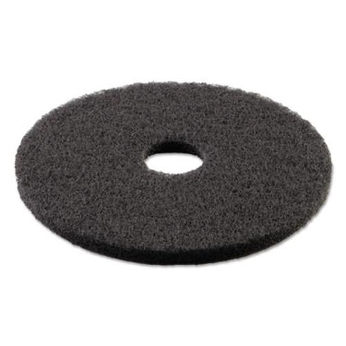Boardwalk Standard 13-Inch Diameter Stripping Floor Pads, Black (PAD 4013 BLA)