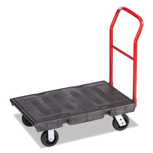 Rubbermaid Commercial Heavy-Duty Platform Truck Cart  500 lb Capacity  24 x 36 Platform  Black (RCP 4403 BLA)