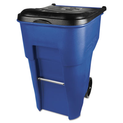 Rubbermaid Commercial Brute Rollout Container, Square, Plastic, 95 gal, Blue (RCP 9W22-73 BLU)